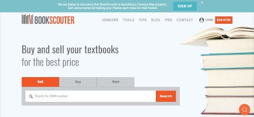 sell used books for cash - bookscouter app